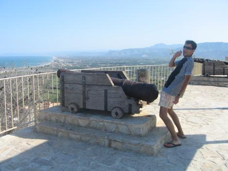 Cañon en el Castillo de Cullera