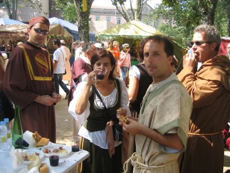 Comiendo en la Feira Franca 2008