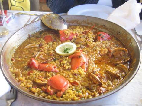 Arroz con bogavante en el Delta del Ebro