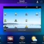 Blackberry Playbook ejecutando aplicaciones Android